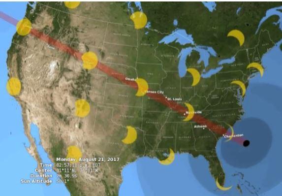 2017 Solar Eclipse Path