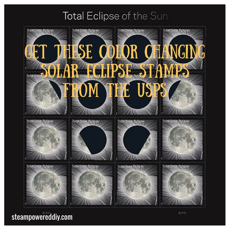 Color Changing Solar Eclipse Stamps