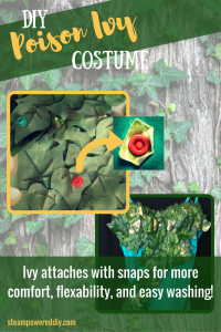 How to make a DIY Poison Ivy Costume. Tutorial with detailed list of supplies and where to find them.